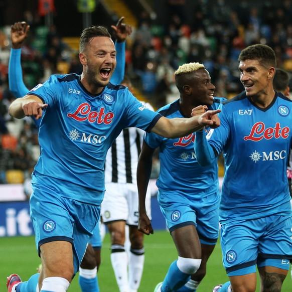 La joie pour les joueurs de Naples