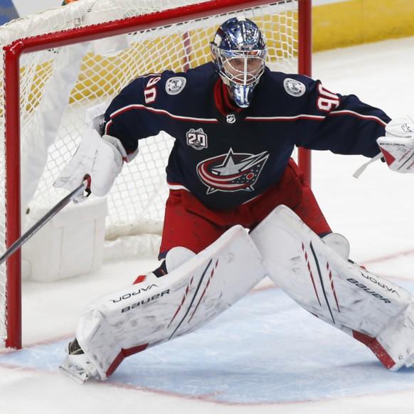 L'ancien gardien de Lugano, Elvis Merzlikins a fait son chemin en NHL.