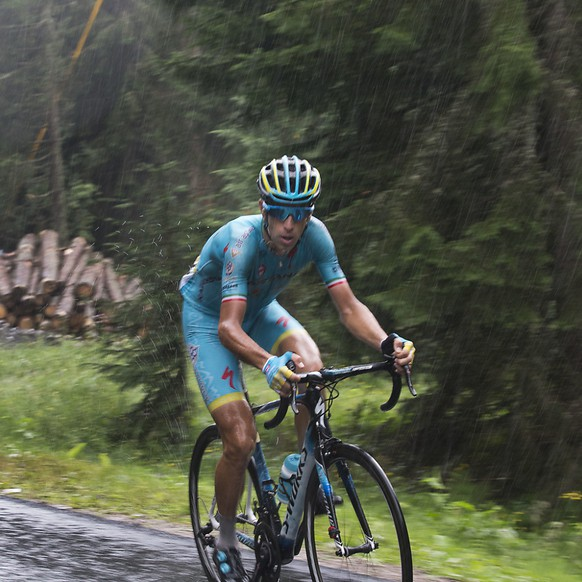 Nibali sous la pluie lors du Tour de France 2016