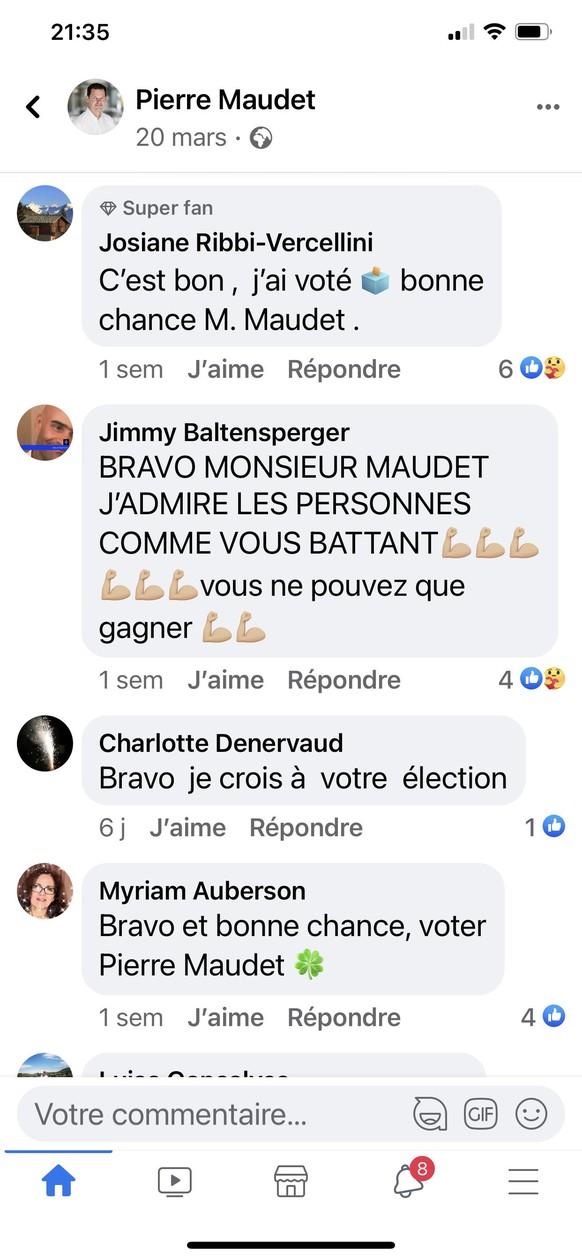 fans Maudet sur FAcebook - Maudet un battant - mars 2021