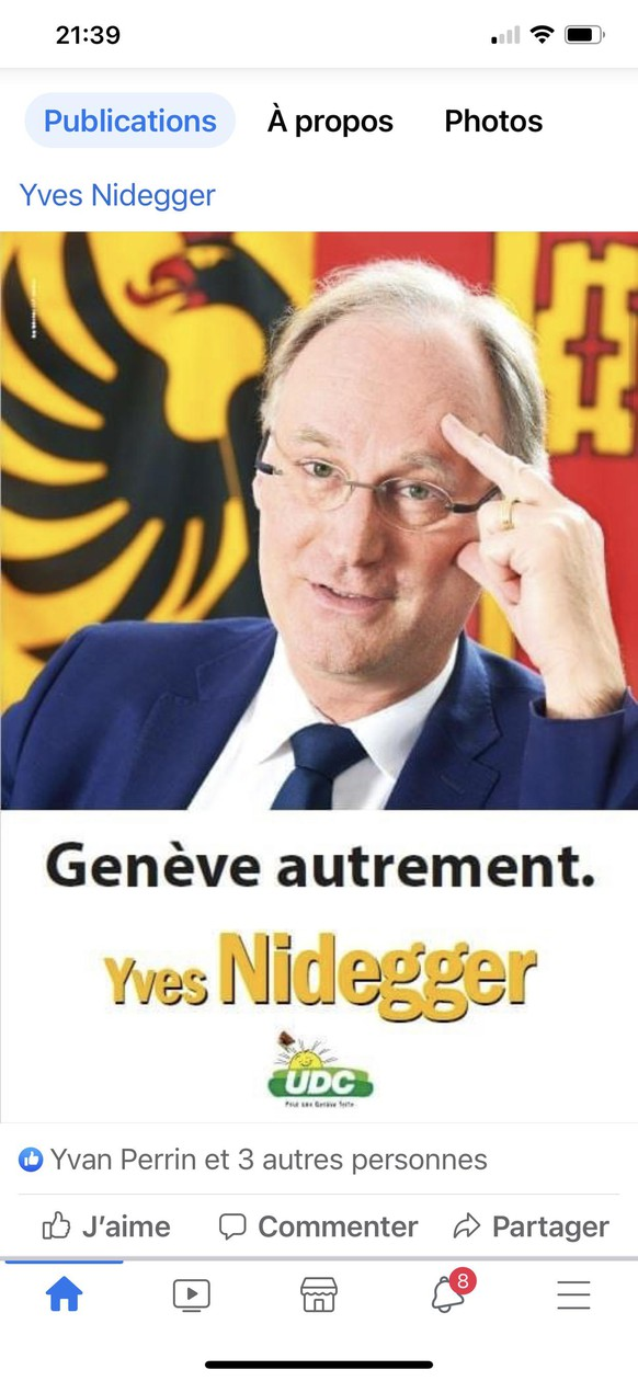 Yves Nidegger en campagne pour le conseil d'Etat - mars 2021