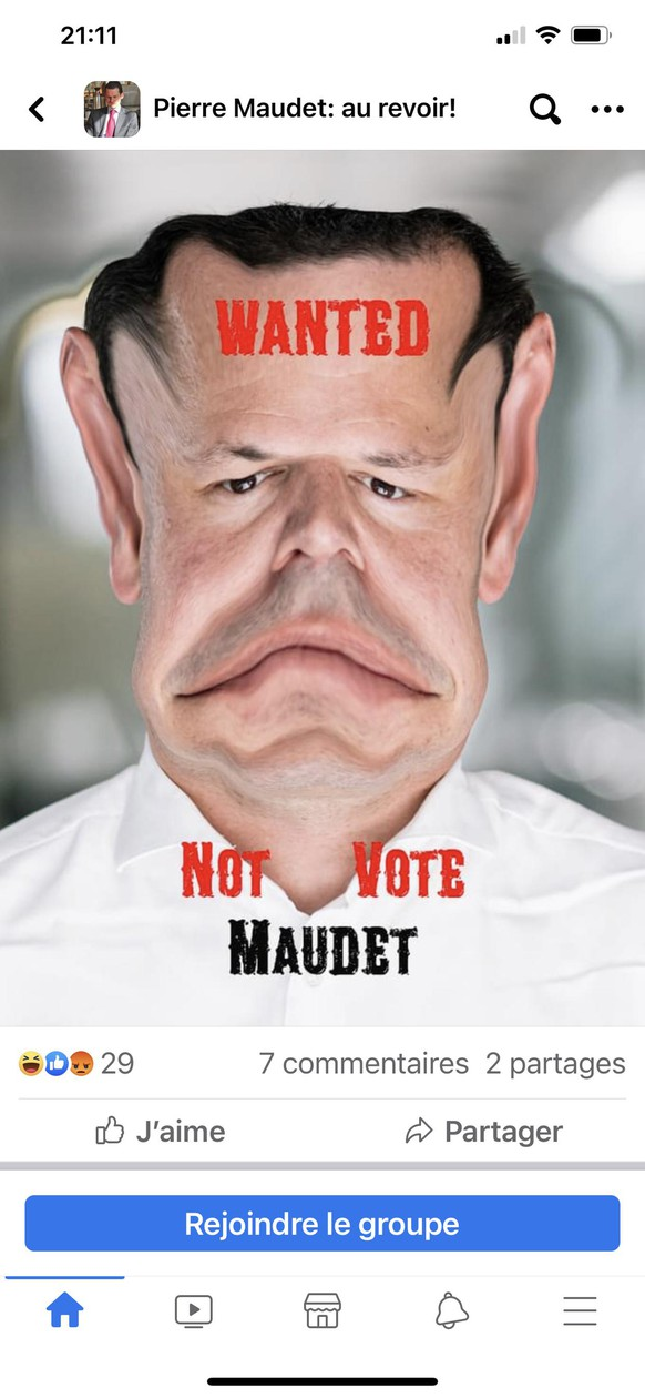 groupe anti-Maudet sur Facebook - mars 2021