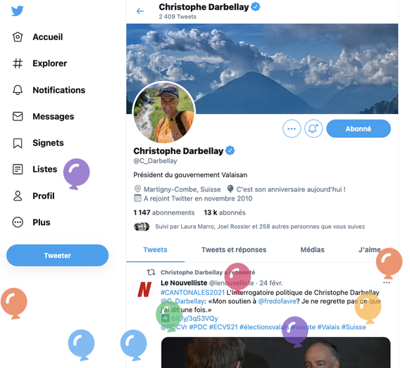 Christophe Darbellay Twitter