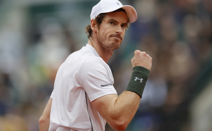 Tennis - French Open Man's Singles Semifinal match - Roland Garros - Stan Wawrinka of Switzerland v Andy Murray of Britain - Paris, France - 03/06/16 Murray reacts. REUTERS/Gonzalo Fuentes