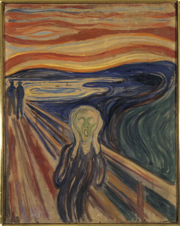 This undated photo showing the version of Edvard Munch's