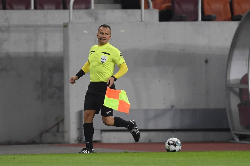 Football - Romania - Liga 1 - FCSB - CFR CLUJ - 19 March 2021 Octavian Sovre in action during the football match between FCSB and CFR Cluj, Round 28 of Liga 1 Romania, in Bucharest, Friday 19 March 2021. Alex Nicodim / ImagineRomania PUBLICATIONxNOTxINxROM Copyright: xAlexxNicodimx