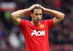 (FILE PHOTO) It has been reported on May 12, 2014 that Manchester United defender Rio Ferdinand will leave Manchester United in the summer after not being offered a new contract. MANCHESTER, ENGLAND - APRIL 22:  Rio Ferdinand of Manchester United looks dejected at the end of the Barclays Premier League match between Manchester United and Everton at Old Trafford on April 22, 2012 in Manchester, England.  (Photo by Alex Livesey/Getty Images)