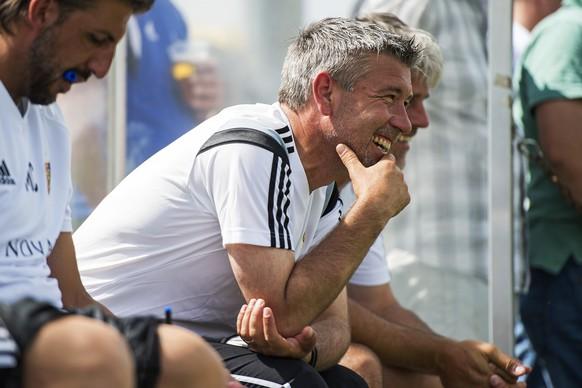 27.06.2015; Herzogenbuchsee; Fussball - FC Basel - SC Austria Lustenau;Trainer Urs Fischer (Basel)(Urs Lindt/freshfocus)