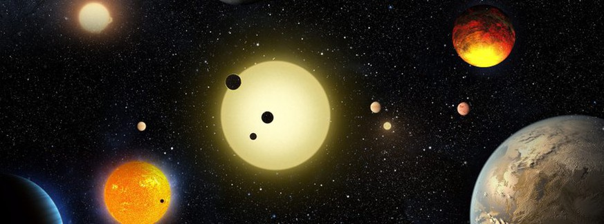 epa05298540 A handout image provided by NASA on 10 May 2016 shows an artist's concept depicting planetary discoveries made by NASA's Kepler space telescope. According to NASA, the Kepler mission has verified 1,284 new planets · the single largest finding of planets to date. 'This announcement more than doubles the number of confirmed planets from Kepler,' said Ellen Stofan, chief scientist at NASA Headquarters in Washington DC, USA. 'This gives us hope that somewhere out there, around a star much like ours, we can eventually discover another Earth.' EPA/W. STENZEL / NASA / HANDOUT HANDOUT EDITORIAL USE ONLY +++(c) dpa - Bildfunk+++