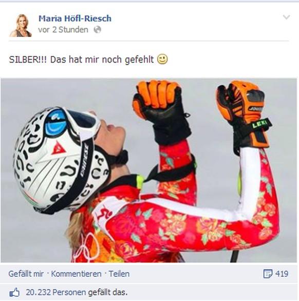 Maria Höfl Riesch Facebook