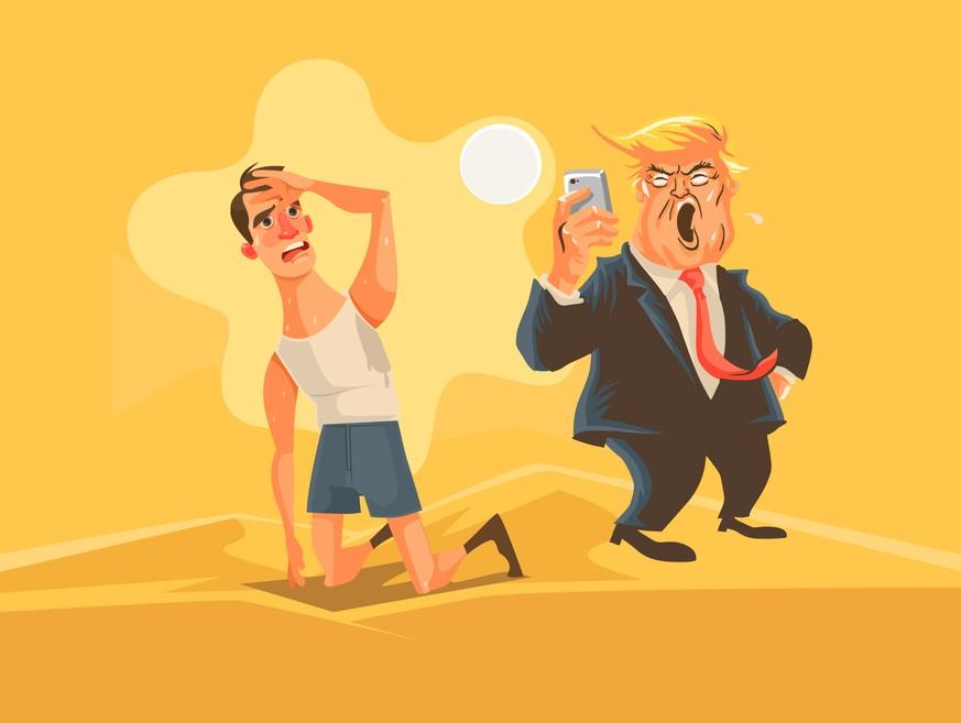 Die Amerikaner haben vom 24-Stunden-Drama des Donald Trump die Schnauze voll