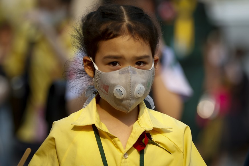 epa07331150 A Thai student wears a face mask as heavy air pollution continues to affect Bangkok, Thailand, 30 January 2019. Thailand, 30 January 2019. The Thai Education Ministry on 30 January 2019 ordered educational institutes in Bangkok city to close after air pollution worsened. Fine particulate matter (PM2.5), which can cause serious health issues, remains at unhealthy levels in Thailand's capital and nearby, according to the Pollution Control Department.  EPA/NARONG SANGNAK
