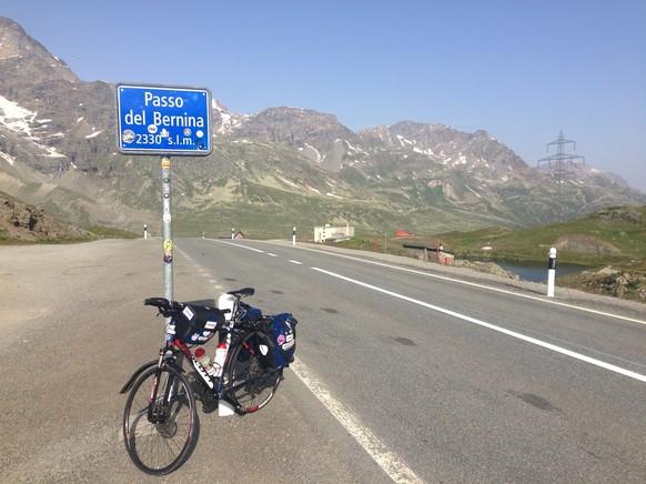 Das Highlight der 3. Etappe ist der Passo del Bernina, der sechsthöchste Punkt meiner Tour dur d'Schwiiz.