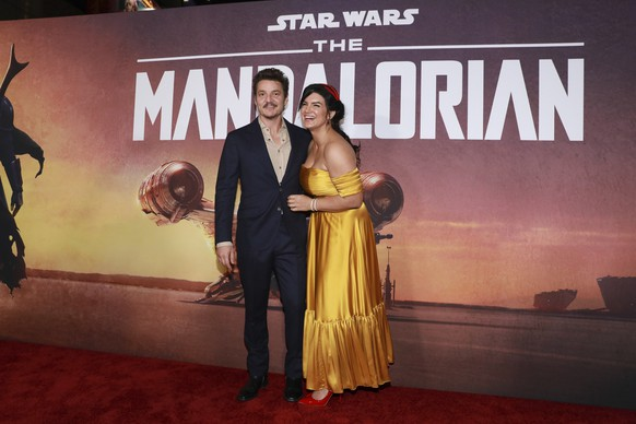 Pedro Pascal and Gina Carano attend the LA Premiere of