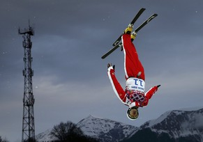 Switzerland's Renato Ulrich competes during the men's freestyle skiing aerials qualification round at the 2014 Sochi Winter Olympic Games in Rosa Khutor February 17, 2014.  REUTERS/Mike Segar (RUSSIA  - Tags: SPORT SKIING OLYMPICS TPX IMAGES OF THE DAY)