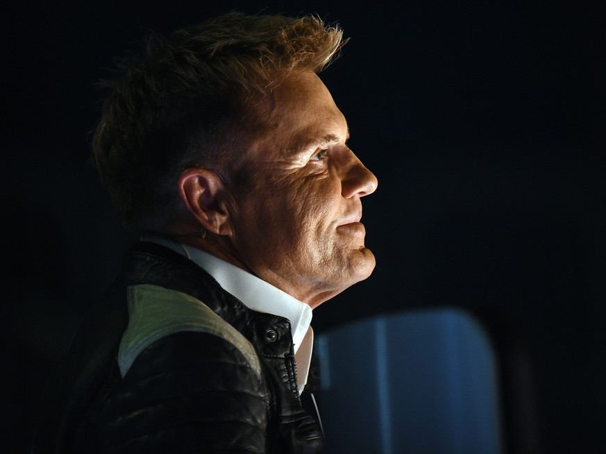 epa05294296 Jury member Dieter Bohlen looks on during the final of the RTL casting show 'Deutschland sucht den Superstar' (DSDS, lit.: Germany Seeks the Superstar) in Duesseldorf, Germany, 07 May 2016.  EPA/HENNING KAISER
