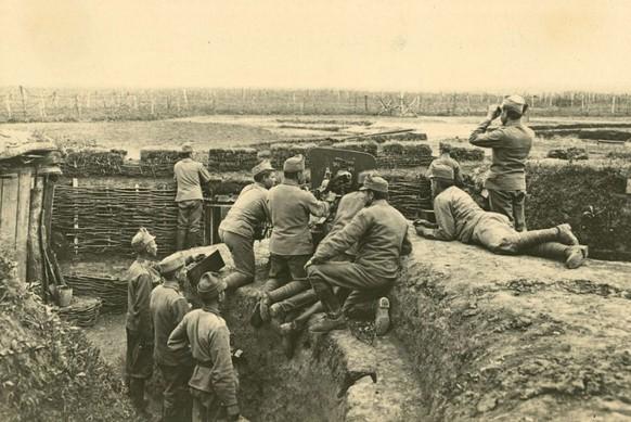 Erster Weltkrieg Brussilow-Offensive Ostfront 1916 österreichisch-ungarische Truppen (Österreichisches Staatsarchiv)