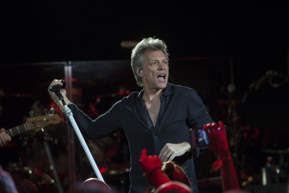 Jon Bon Jovi performs at SiriusXM Presents Bon Jovi Live at the Faena Theater during Art Basel on Saturday, Dec. 3, 2016, in Miami Beach, Fla. (Photo by Jesus Aranguren/Invision/AP)