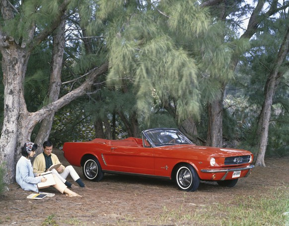 A 1965 Ford Mustang is shown in this publicity photo released to Reuters April 11, 2014. The car's styling strikingly captured the exuberant youth culture of America in the early 1960s -- and its $2,368 price tag made it affordable to the horde of baby boomers that were just reaching driving age or heading off to college. Next week's 50th anniversary of the first Ford Mustang evokes a long-ago day when new cars could generate as much excitement, at least in America, as new iPads. The car caused a sensation, even though it wasn't a technological marvel like Apple's tablet.   REUTERS/Ford Motor Company/Handout via Reuters  (UNITED STATES - Tags: TRANSPORT BUSINESS SOCIETY ANNIVERSARY) ATTENTION EDITORS - THIS PICTURE WAS PROVIDED BY A THIRD PARTY. REUTERS IS UNABLE TO INDEPENDENTLY VERIFY THE AUTHENTICITY, CONTENT, LOCATION OR DATE OF THIS IMAGE. FOR EDITORIAL USE ONLY. NOT FOR SALE FOR MARKETING OR ADVERTISING CAMPAIGNS. NO SALES. NO ARCHIVES. THIS PICTURE IS DISTRIBUTED EXACTLY AS RECEIVED BY REUTERS, AS A SERVICE TO CLIENTS