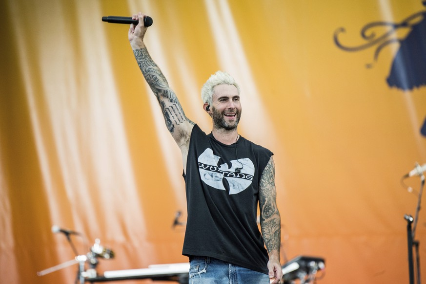 Adam Levine of Maroon 5 performs at the New Orleans Jazz and Heritage Festival on Saturday, April 29, 2017, in New Orleans. (Photo by Amy Harris/Invision/AP)