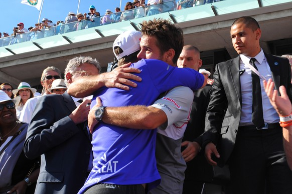 Stan Wawrinka (Sui), Magnus Norman, Paris, 7.6.2015, Tennis, French Open, Roland Garros, Final. (Antoine Couvercelle/Panoramic/EQ Images) SWITZERLAND ONLY