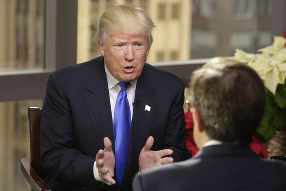 President-elect Donald Trump is interviewed by Chris Wallace of