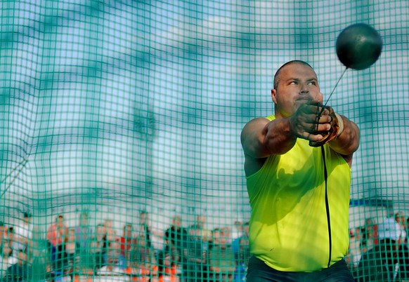 epa04261353 Krisztian Pars of Hungary competes in the men's hammer throw event at the IAAF World challenge Golden Spike in Ostrava, Czech Republic, 16 June 2014.  EPA/FILIP SINGER