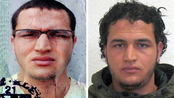 epa05684720 An undated handout composite photo made available by German Federal Criminal Police Office (BKA) on 21 December 2016 shows suspect Anis Amri who is searched for in connection to the 19 December Berlin attacks. A manhunt for the truck driver is underway after an initial suspect had to be released after he was cleared of the suspicion. At least 12 people were killed and dozens injured when a truck on 19 December drove into the Christmas market at Breitscheidplatz in Berlin, in what authorities believe was a deliberate attack.  EPA/BKA / HANDOUT BEST QUALITY AVAILABLE, MANDATORY CREDIT HANDOUT EDITORIAL USE ONLY/NO SALES