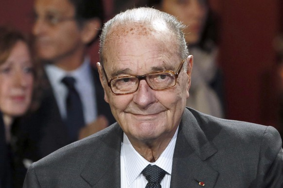 epa05545517 (FILE) A file photo dated 21 November 2014 shows former French president Jacques Chirac attending the award ceremony of the Jacques Chirac Foundation in Paris, France. According to news reports on 18 September 2016, Jacques Chirac has been hospitalized.  EPA/PATRICK KOVARIK / POOL MAXPPP OUT