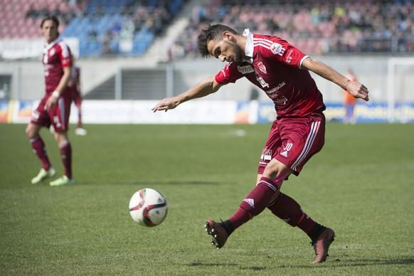 22. Maerz 2015; Vaduz; Fussball Super League - FC Vaduz - FC St. Gallen; Naser Aliji (Vaduz) (Michael Zanghellini/freshfocus)