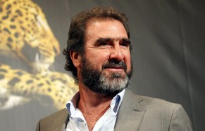FILE - In this Friday, Aug. 9, 2012, file photo former French soccer star  and actor Eric Cantona poses during the Locarno Film Festival, Thursday, Aug. 9, 2012, in Locarno, Switzerland. British police have arrested former Manchester United great Eric Cantona and cautioned him for assaulting a man in London.Cantona was briefly taken into custody following the incident that happened in the Primrose Hill area of north London on Wednesday March 12, 2014.  (AP Photo/Keystone, Urs Flueeler, File)