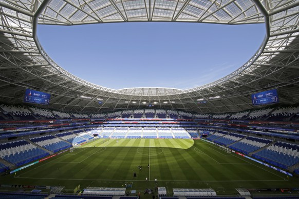 epa06812890 A general view of the Cosmos Arena in Samara, Russia, 16 June 2018. Serbia will face Costa Rica at Cosmos Arena in a group E match of the FIFA World Cup 2018 on 17 June 2018.  EPA/WALLACE WOON   EDITORIAL USE ONLY