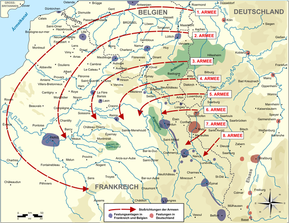 Erster Weltkrieg Westfront Schlieffen-Plan