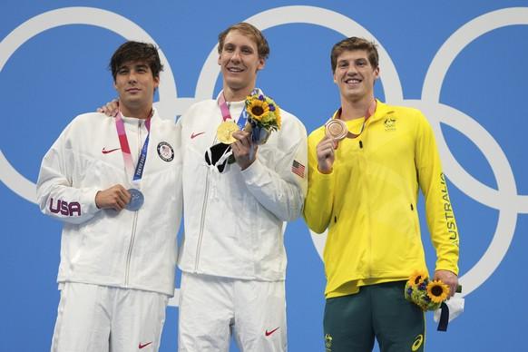 <strong>Männer: Schwimmen, 400 m Lagen</strong> Gold: Chase Kalisz (USA) Silber: Jay Litherland (USA) Bronze: Brendon Smith (AUS)