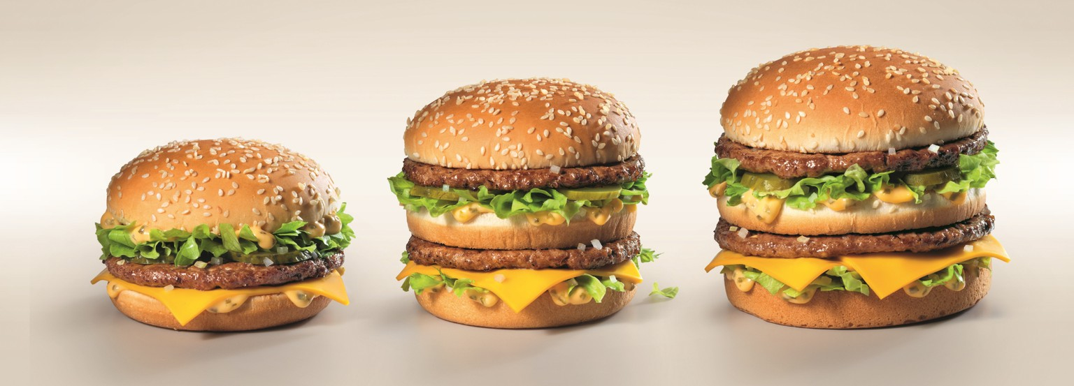 Big Mac Variationen McDonald's Schweiz. fast food hamburger essen food