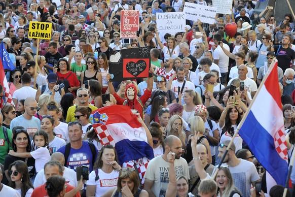 Croatia Visus Outbreak Protest