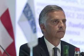 OSCE President Didier Burkhalter during the OSCE Chairmanship Conference in Bern, Switzerland, Tuesday, June 10, 2014. (KEYSTONE/Lukas Lehmann)