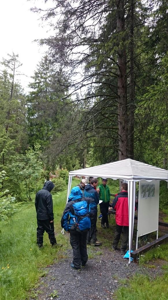 Und bei diesem Wetter halten BFH-Studenten ihre Abschlusspräsentation im Wald ab... Die richtig harten halt ;)