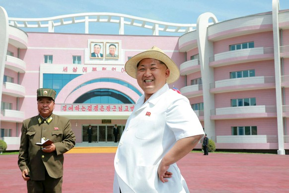 North Korean leader Kim Jong Un provides field guidance to the Wonsan Baby Home and Orphanage in the run-up to a ceremony for their completion, in this undated photo released by North Korea's Korean Central News Agency (KCNA) June 2, 2015. KCNA via Reuters/File PhotoATTENTION EDITORS - THIS PICTURE WAS PROVIDED BY A THIRD PARTY. REUTERS IS UNABLE TO INDEPENDENTLY VERIFY THE AUTHENTICITY, CONTENT, LOCATION OR DATE OF THIS IMAGE. FOR EDITORIAL USE ONLY. NO THIRD PARTY SALES. SOUTH KOREA OUT. THIS PICTURE IS DISTRIBUTED EXACTLY AS RECEIVED BY REUTERS, AS A SERVICE TO CLIENTS.