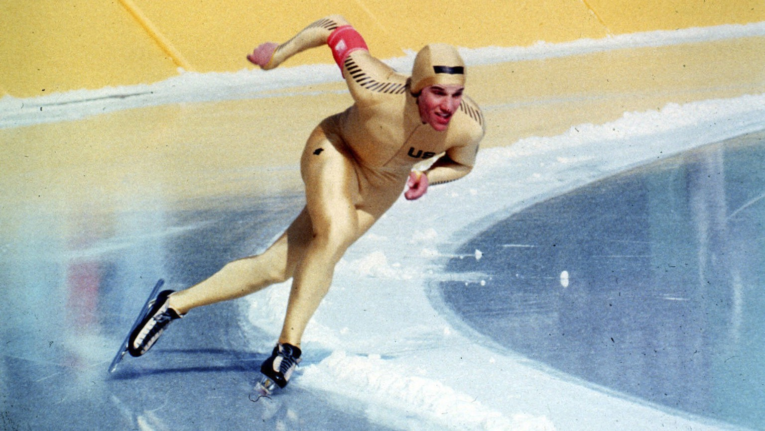 FILE – In this Feb. 21, 1980 file photo, U.S. Olympic Speedskater Eric Heiden skates in winning the 1500 meters speedskating event at Lake Placid, N.Y. Along with heiden, current speedskater Dutch Sven Kramer stands among one of the greatest speedskaters of all time. Kramer delicately framed his Olympic blunder for the ages four years ago in Vancouver when his coach inexplicably pointed him toward the wrong lane on a crossover and Kramer, just as inexplicably followed that road to Olympic ruin. Now, he has 15 days in which to turn that failure into the redemption story of the games, starting with Saturday's 5,000 meters, where he is the defending champion. (AP Photo/File)