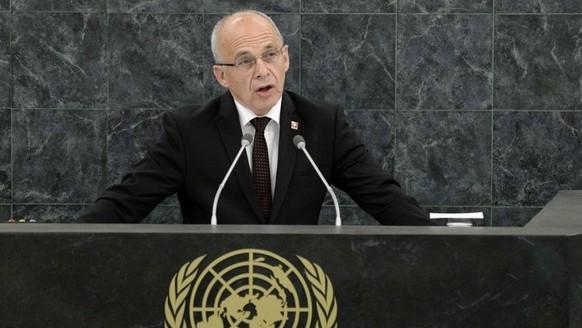 Zum zweiten Mal wird Bundesrat Ueli Maurer am Dienstag als Schweizer Bundespräsident vor der Uno-Vollversammlung auftreten. (Archivbild)