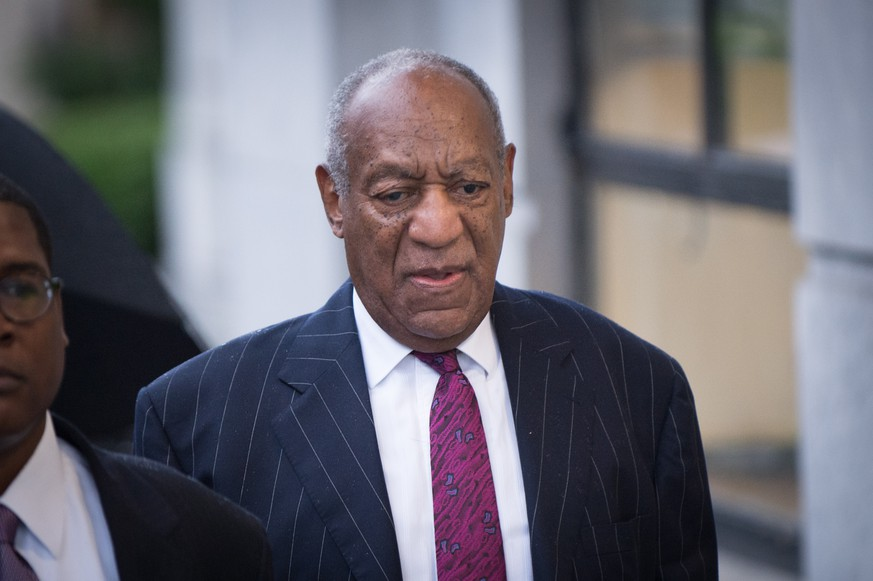 epa07045360 US entertainer Bill Cosby arrives at the Montgomery County Courthouse in Norristown, Pennsylvania, USA, 25 September 2018 for the second day of his sentencing hearing. Cosby was found guilty on three counts including Aggravated Sexual Assault.  EPA/TRACIE VAN AUKEN
