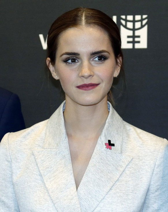 epa04409879 UN Women Goodwill Ambassador British actress and model Emma Watson attends the HeForShe Campaign at the United Nations headquarters in New York, New York, USA, 20 September 2014.  EPA/JASON SZENES