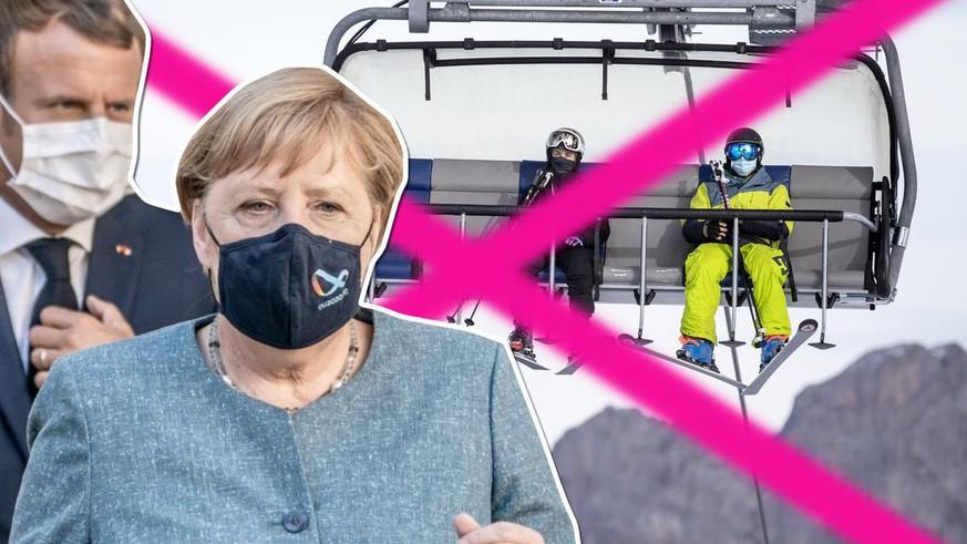 Merkel und Macron fordern Ski-Pause bis im Januar – 8 Punkte dazu