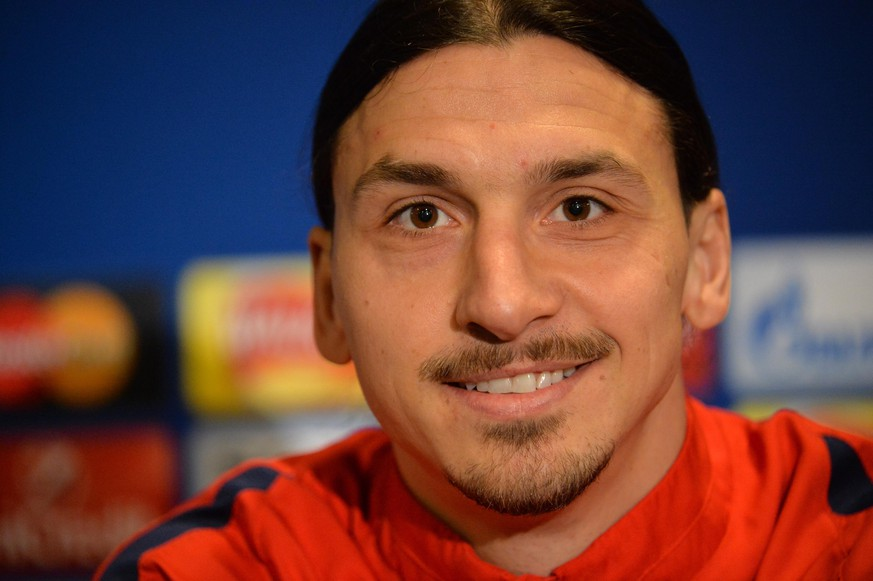 08.03.2016; London, Fussball Champions League - Chelsea FC - Paris Saint Germain PSG; Zlatan Ibrahimovic  (PSG) an der Pressekonferenz