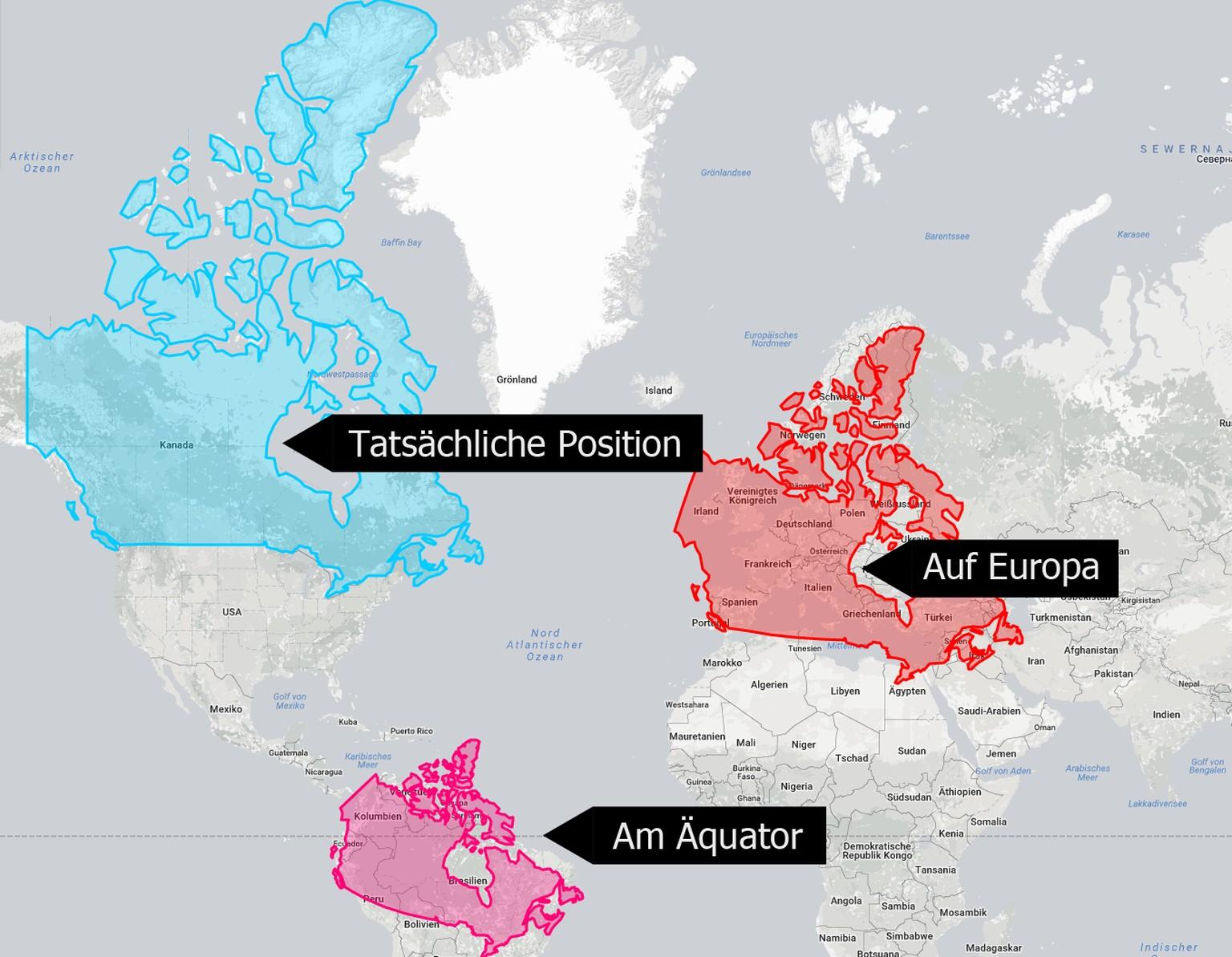 Flache Erde Karte Kaufen.16 Landkarten Die Zeigen Wie Gross Lander Wirklich Sind