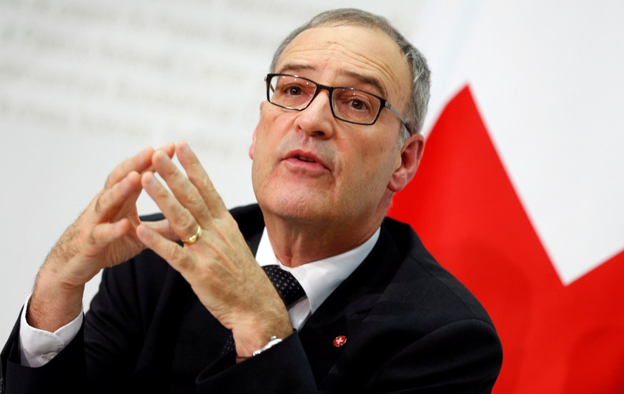 Swiss Defence Minister Guy Parmelin attends a news conference in Bern September 25, 2016. REUTERS/Ruben Sprich