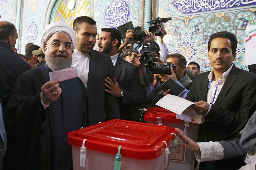 Ruhani gewinnt Präsidentenwahl im Iran