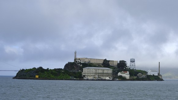 FILE - In this March 6, 2019, file photo, is Alcatraz Island in San Francisco. Alcatraz Island will reopen its outdoor areas to the public next week after being closed for five months due to the pandemic. The Mercury News reports Thursday, Aug. 13, 2020, the island that once housed Al Capone and George