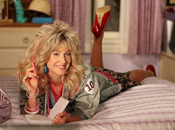 """""""P. S. I Love You"""" -- Barney uncovers the lost episode of Robin's (Cobie Smulders) """"Underneath the Tunes,"""" as Robin Sparkles, on HOW I MET YOUR MOTHER, Monday, Feb. 4 (8:00-8:30 PM, ET/PT) on the CBS Television Network.  Photo: Michael Yarish/CBS  © 2013 CBS Broadcasting, Inc. All Rights Reserved."""